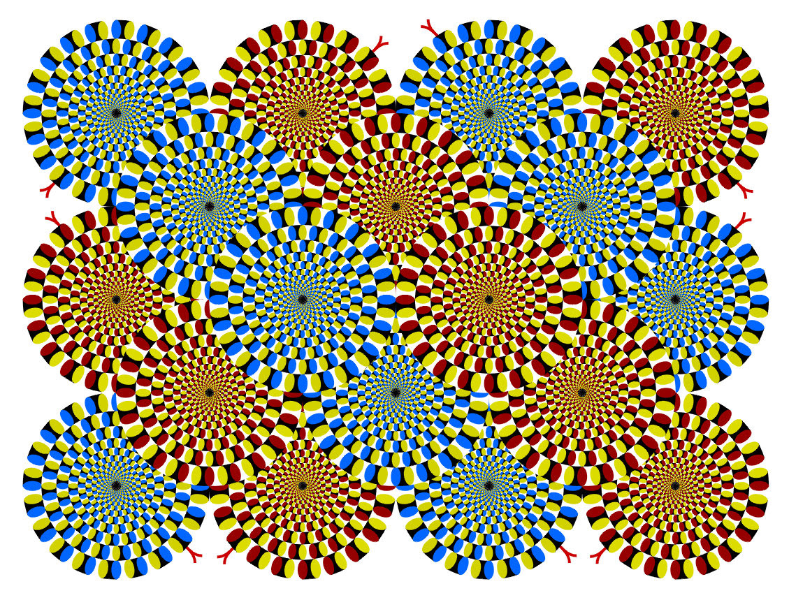 rotating snakes optical illusions image