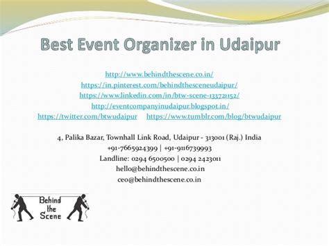 Best event organizer in udaipur