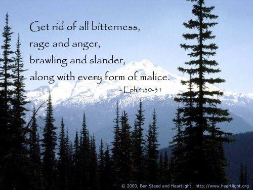 Inspirational illustration of Ephesians 4:30-31