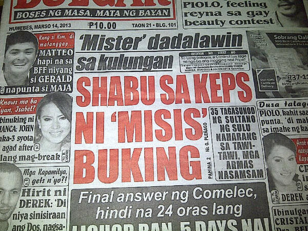 18 Filipino Tabloid Headlines That'll Make You Say
