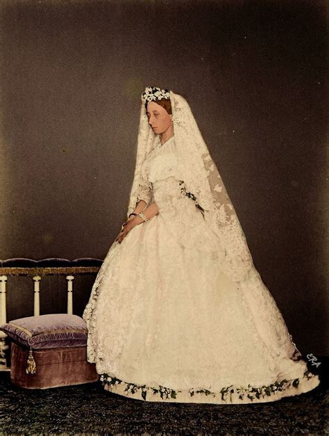 Princess Alice of the United Kingdom in her wedding gown
