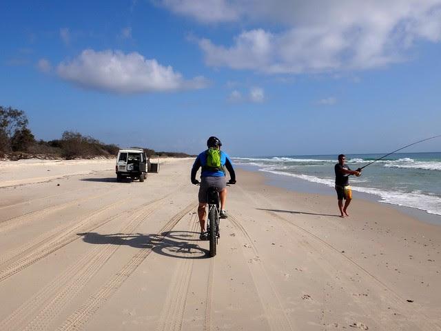 Bike & 4X4 on the beach