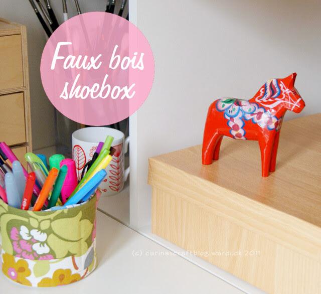 Faux bois shoebox tutorial