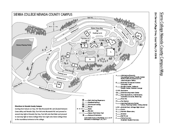 sierra college nevada county campus map Time Zones Map Sierra College Nevada County Campus Map