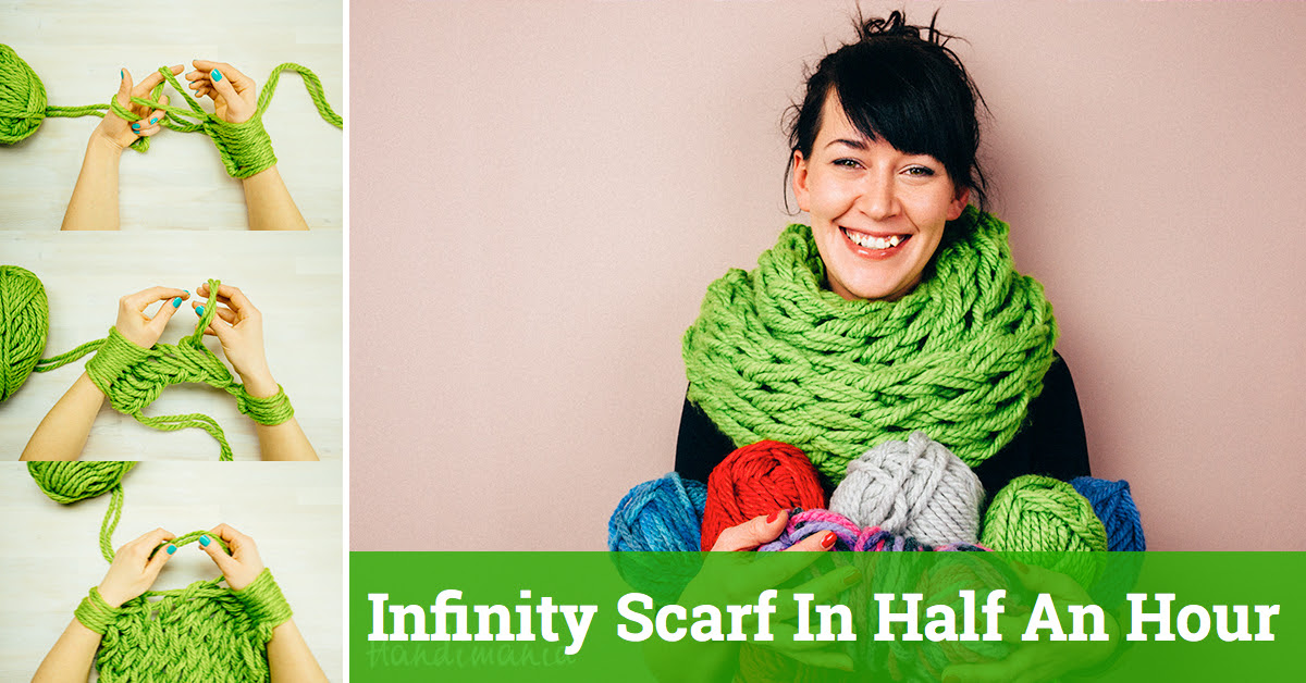 Am Knitting Tutorial - Make Your Own Infinity Scarf In Half An Hour!