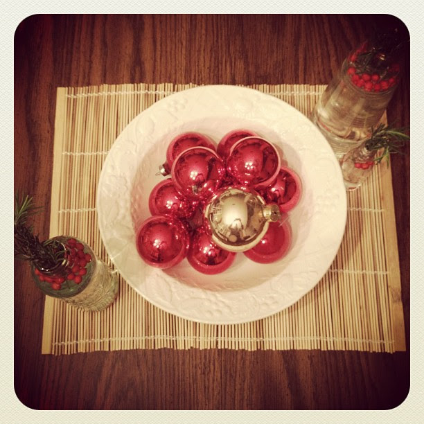 Funky centerpiece #christmas