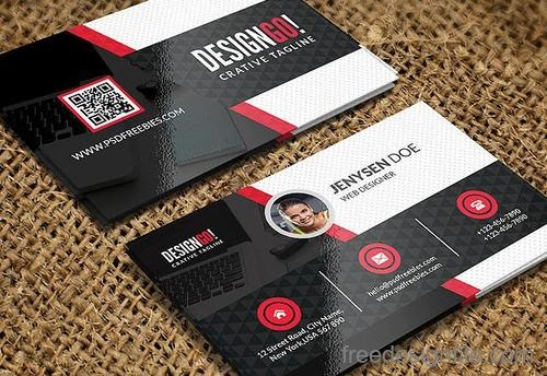 Free Download Template Business Card PSD - Modern