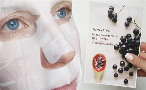 Korean sheet mask Innisfree It?s Real Squeeze Mask
