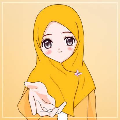 gambar kartun muslimah jilbab syari khazanah islam