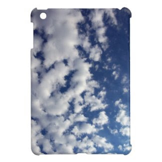 Puffy Clouds On Blue Sky Cover For The iPad Mini