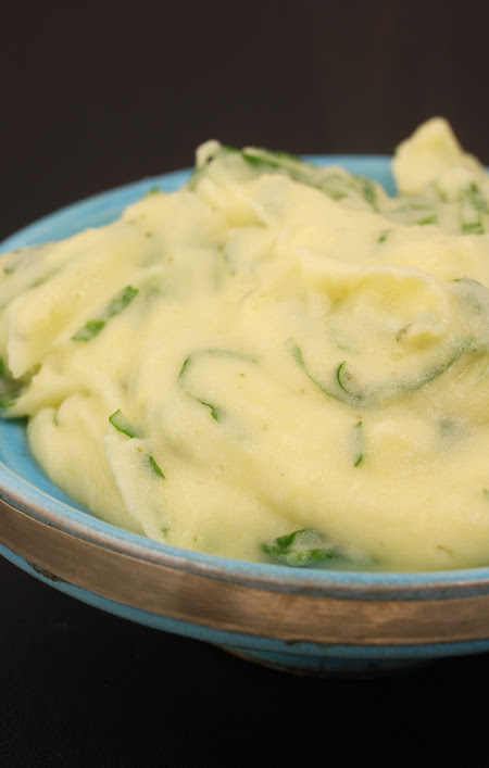 wasabi leaf mashed potato© by Haalo