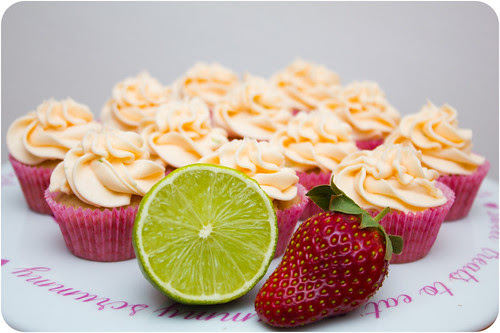 Strawberry Cupcakes with Strawberry Lime Frosting