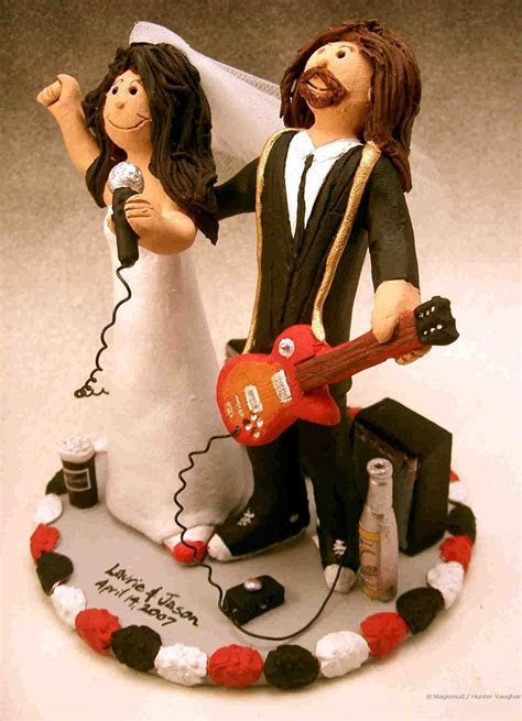 rock stars wedding cake topper! personalized cake toppers