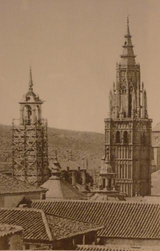 Torre del Reloj de la Catedral de Toledo desde el Alcázar