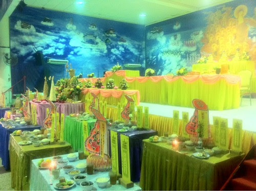 Prayer hall decorated for the Qingming ceremony 2