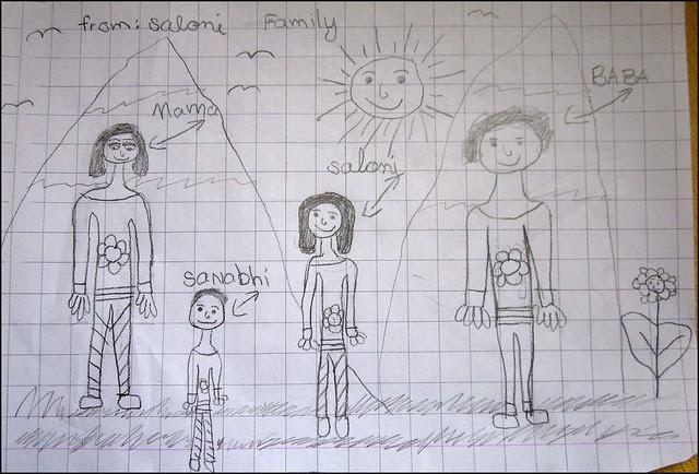 Salonka nakreslila rodinu