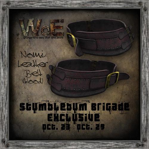nomi Leather Belt - Blood