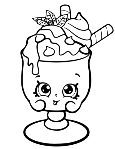 choc mint charlie shopkin coloring page