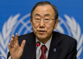 UN Secretary General Ban Ki-Moon urged the Burmese government to uphold the rights of the Rohingya's at a press conference during the 25th ASEAN Summit (PHOTO: WIkicommons)