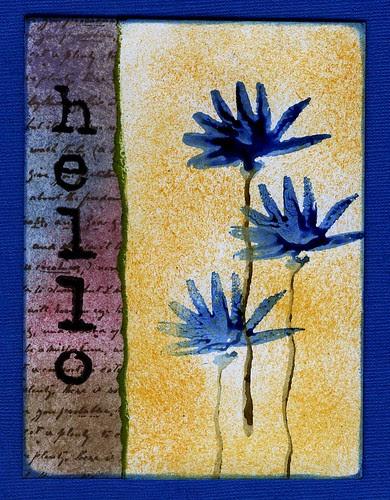 Hello - flowers - Dye Ink