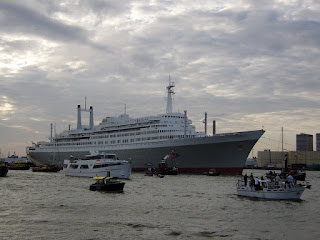The SS Rotterdam seen arriving in Rotterdam