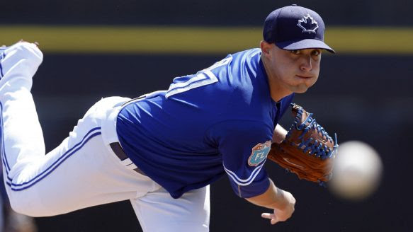 Toronto Blue Jays say pitcher Aaron Sanchez will be in starting rotation.
