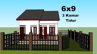 desain rumah minimalis 6x8 meter