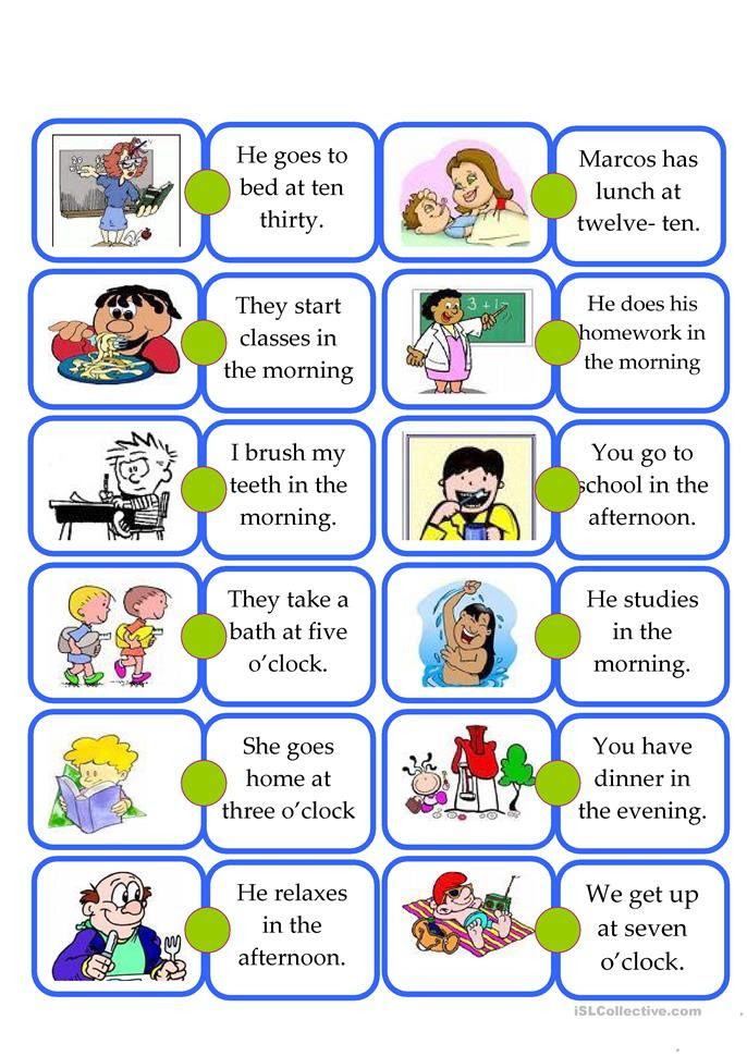 879 FREE ESL Daily routines worksheets