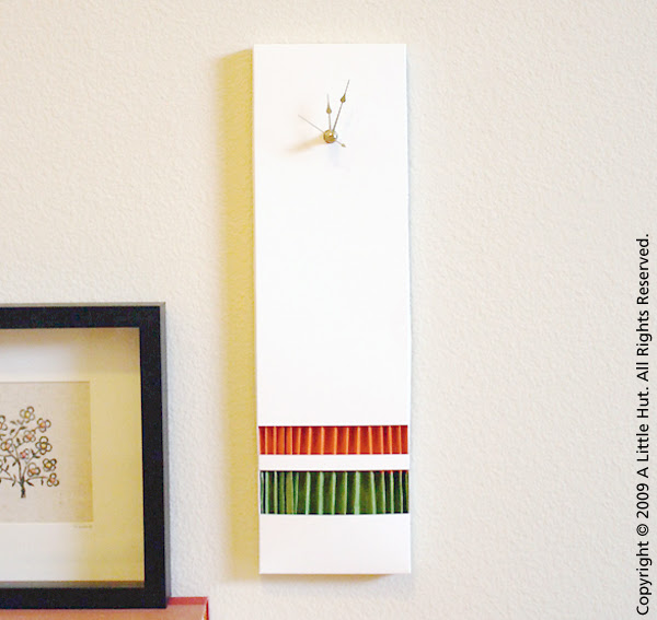 accordion paper clock