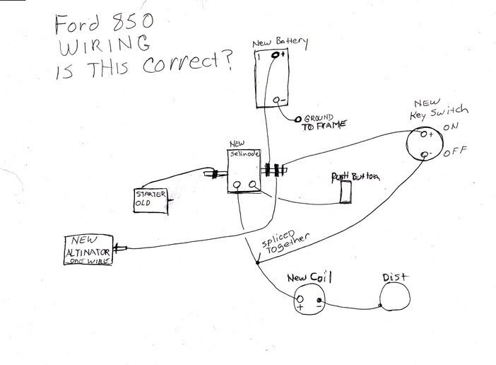 diagram 1968 ford 2000 farm tractor ignition switch wiring