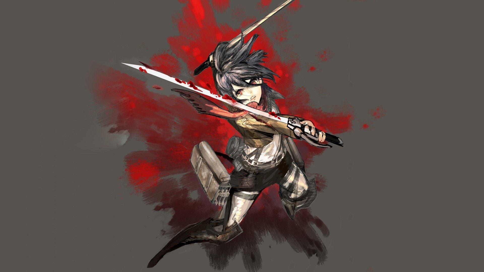 Attack On Titan Mikasa Wallpaper Gambarku