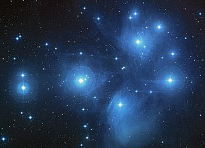 The Pleiades, an open cluster of stars in the constellation of Taurus. NASA photo