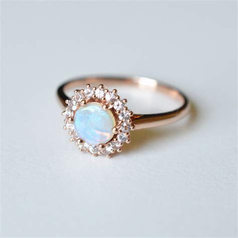 Australian Opal Halo Engagement Ring   Lovelace ? Sunday