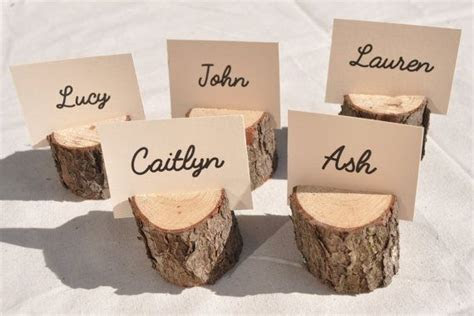20 Wood Place Card Holders, rustic place card holders with