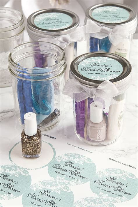 Pedicure in a Jar Bridal Shower Favors in 2019   Bridal