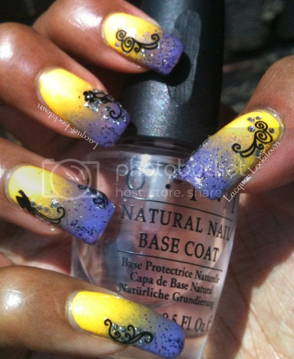 Windestine's Glittering Gradient Butterly Mani