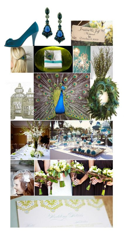 Decorating for a Peacock-ish wedding! Ideas?? « Weddingbee Boards