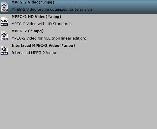 the best suitable format for tivo box