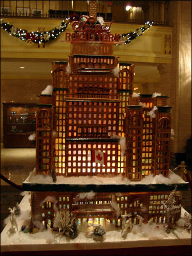 Gingerbread version of the Royal York
