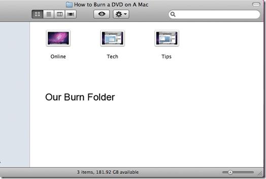 our burn folder
