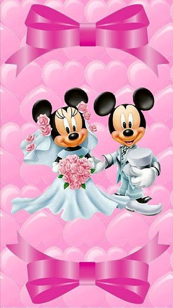 Disney ミッキーミニーマウス 一緒にいる仲良し Iphoneスマホ用