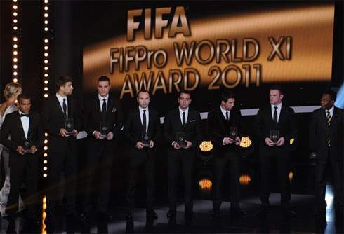 FIFA FIFPro XI, Best line-up of the year (2011-2012) awards