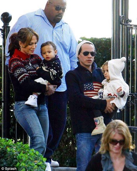 jennifer lopez husband and children. Jennifer Lopez and Marc
