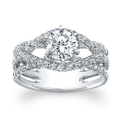 Luminous Swirl Set Forever Brilliant moissanite engagement