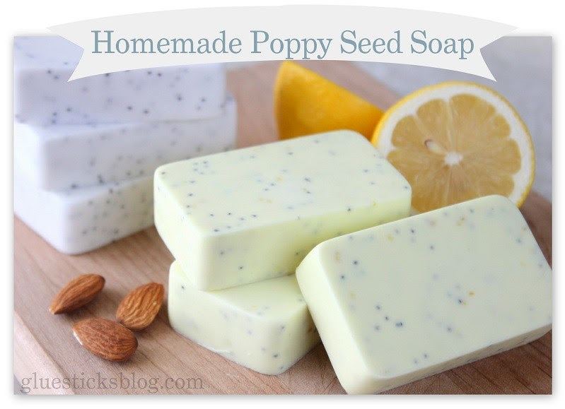 http://gluesticksblog.com/2013/04/homemade-poppy-seed-soap-recipes.html