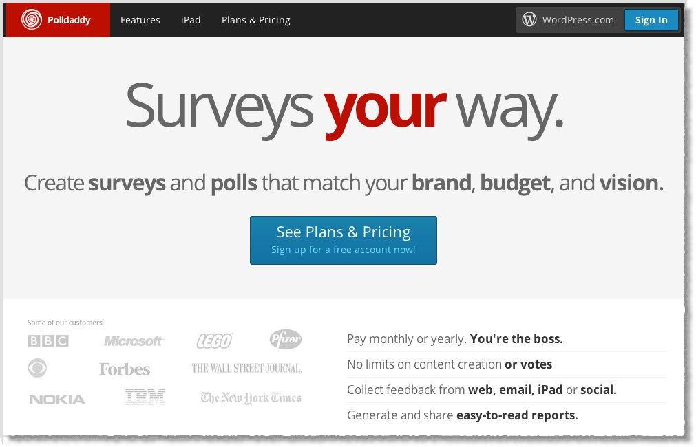 Survey Tool PollDaddy