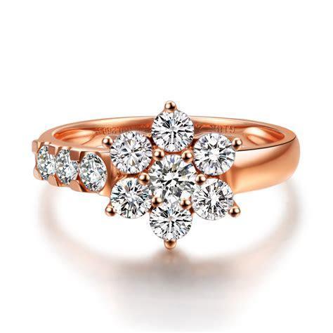 1CT Luxury Diamond Flower Engagement diamond ring For