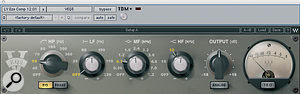 Most of Bono's vocals were recorded through aShure Beta 58 dynamic mic, with some EQ (including the Waves VEQ3, top) and heavy compression from the Fairchild 660 plug‑in. No reverb was used, but Sound Toys' Echo Boy provided delay.