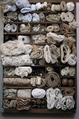 Printers case stuffed with lace