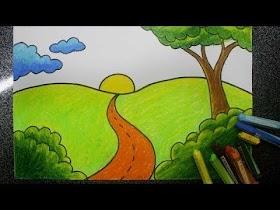 Gambar Pemandangan Gunung Animasi